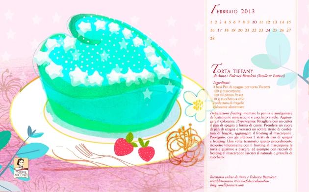 Sfondo con ricetta Torta Tiffany