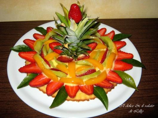 crostata di frutta a base morbida